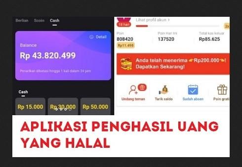 Aplikasi Penghasil Uang Halal Tanpa Modal1
